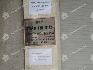 Phòng khám phụ khoa ngoài giờ tphcm - bs. Trần Thị Miền